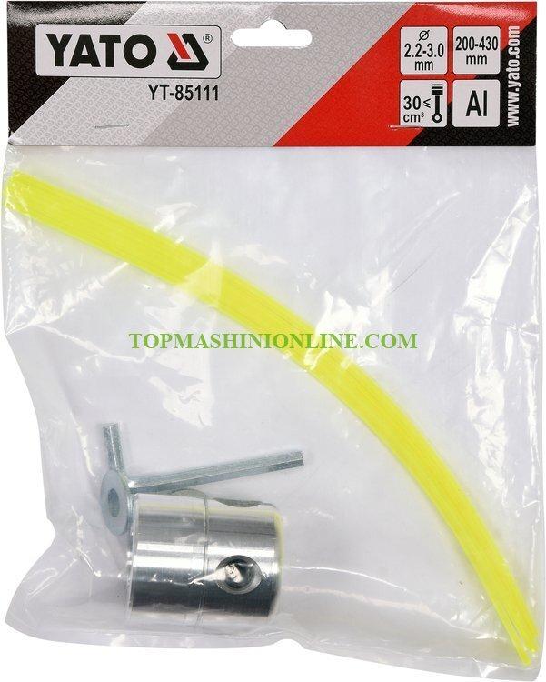 Алуминиева шпула за тример с корда Yato YT-85111 за корда 2.2-3 мм image