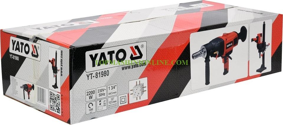 Диамантено пробивна бормашина със стойка Yato YT-81980 2200 W, Ø 30-180 мм image