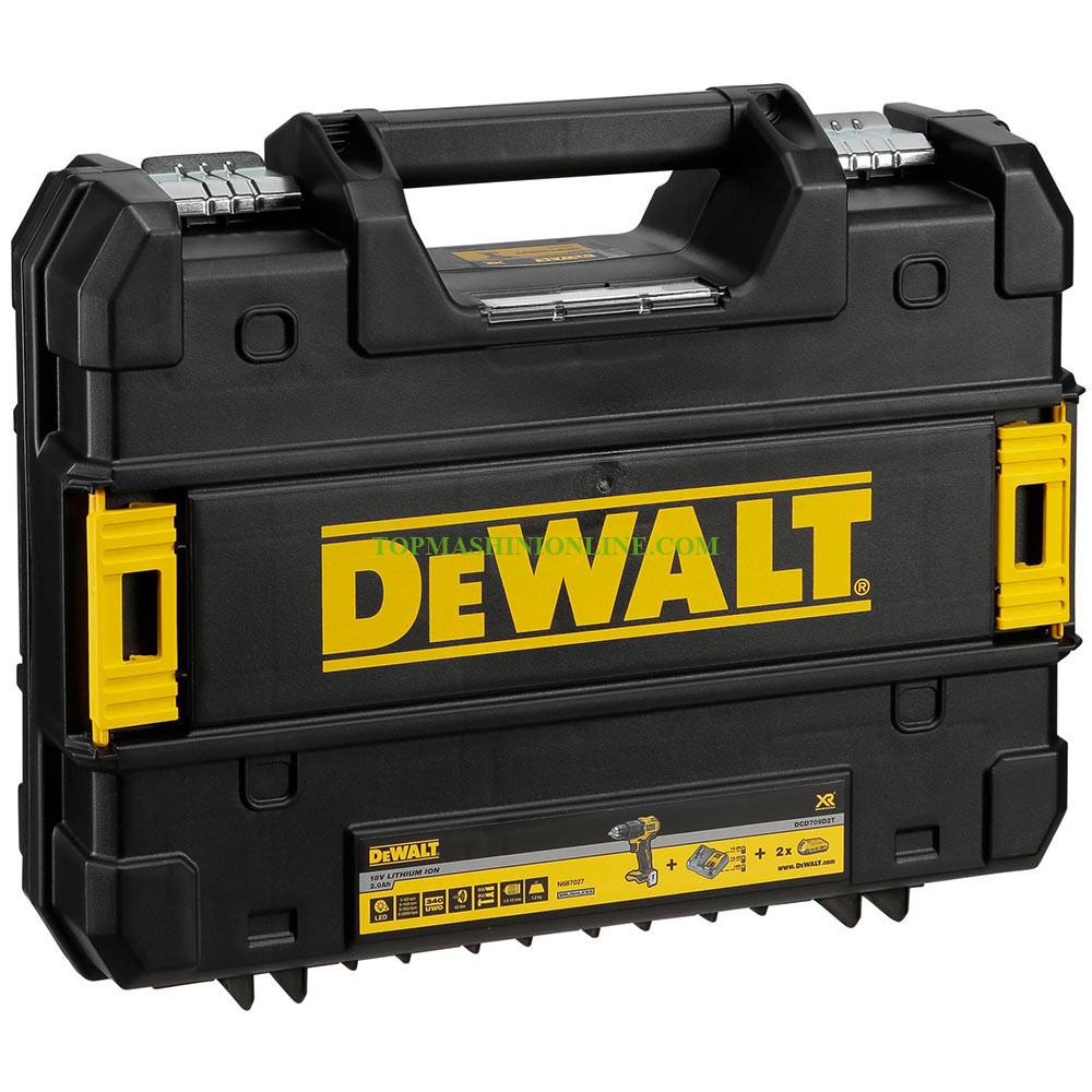 Безчетков ударен акумулаторен винтоверт DeWALT DCD709D2T 2x 18 V, 2.0 Ah, Li-ion, 65 Nm, в куфар TSTAK image