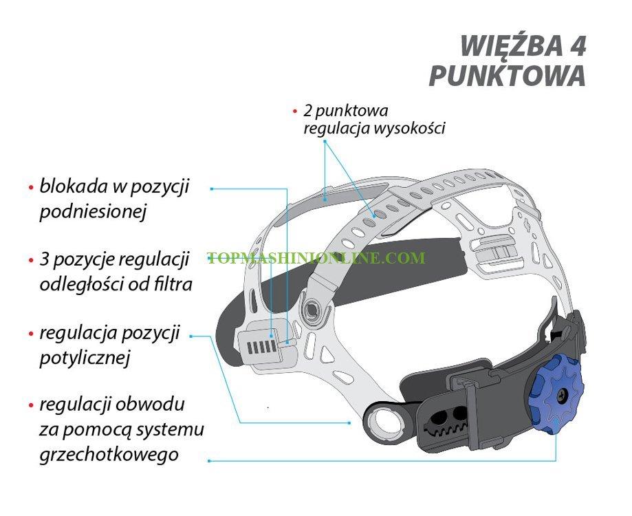 Фотосоларна маска за заваряване Yato YT-73921 DIN 9-13, 98x43 мм, 4 сензора, TIG функция image