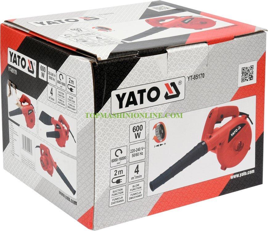 Електрическа въздуходувка с две функции Yato YT-85170 600 W, 4 м³/мин image