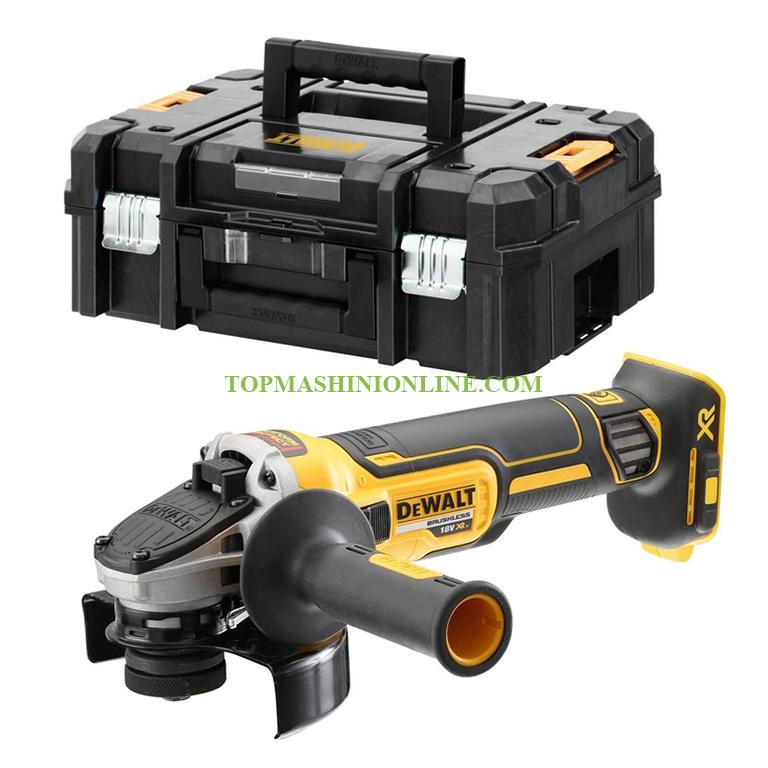 Безчетков акумулаторен ъглошлайф DeWALT DCG405NT 18 V, Li-Ion, Ø 125 мм, в куфар /доставя се без зарядно устройство и батерии/ image