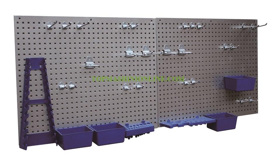 Метална перфорирана стена за инструменти 34 части Profi+ 54704 2 части x 557x455x10 мм image