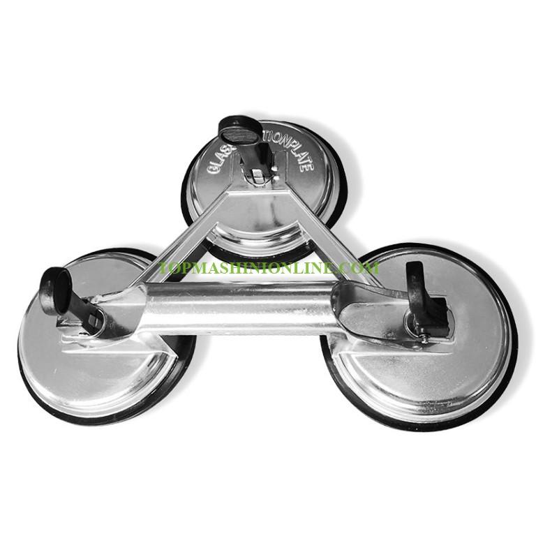 Тройна алуминиева вендуза за стъкло и плоскости Edma 250355 Ø 120 мм, 140 кг image