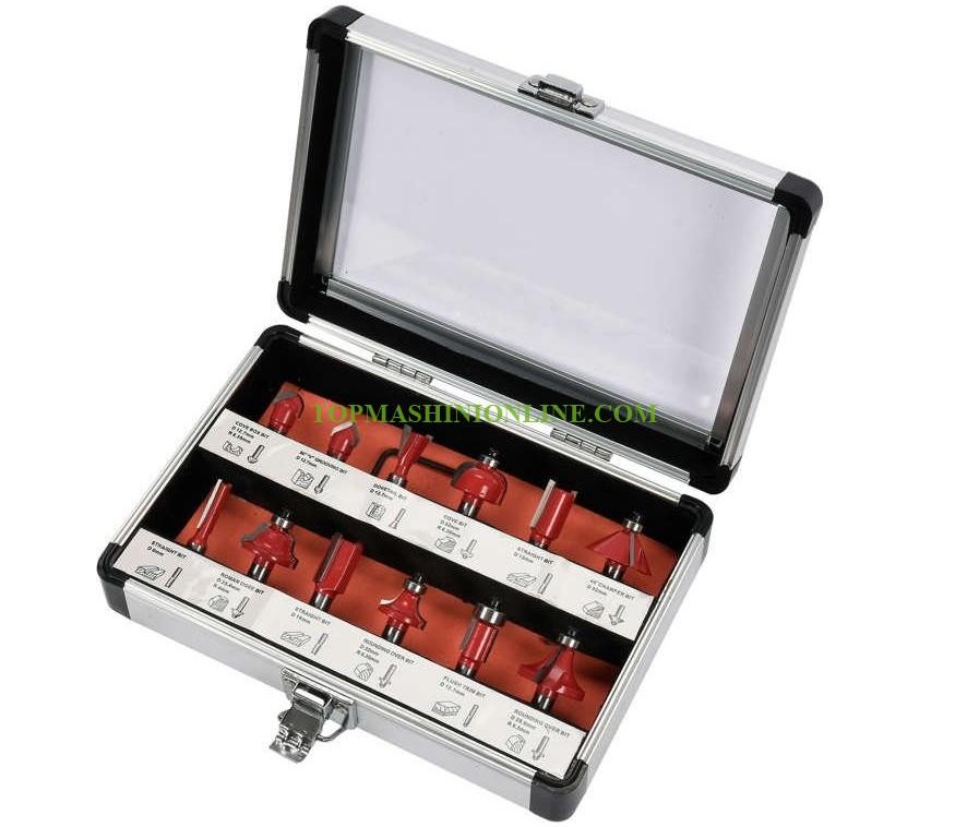 Комплект фрезери за оберфреза Yato YT-68005 12 броя, опашка Ø 8 мм, в кутия image