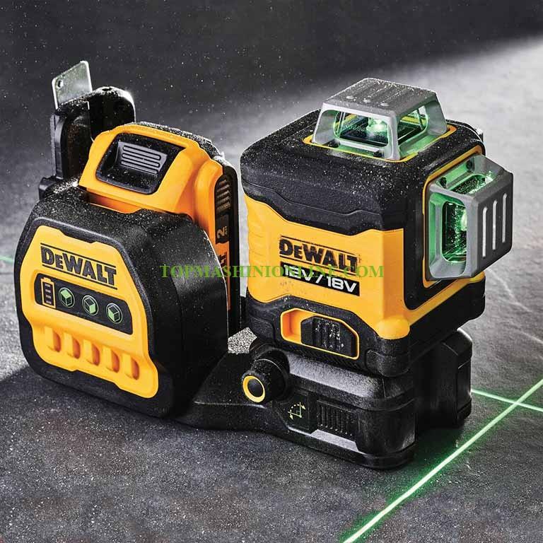 Линеен лазерен нивелир с 3 зелени лъча DeWALT DCE089NG18 35 м, 0.3 мм/м, 360°, 18 V/12 V image