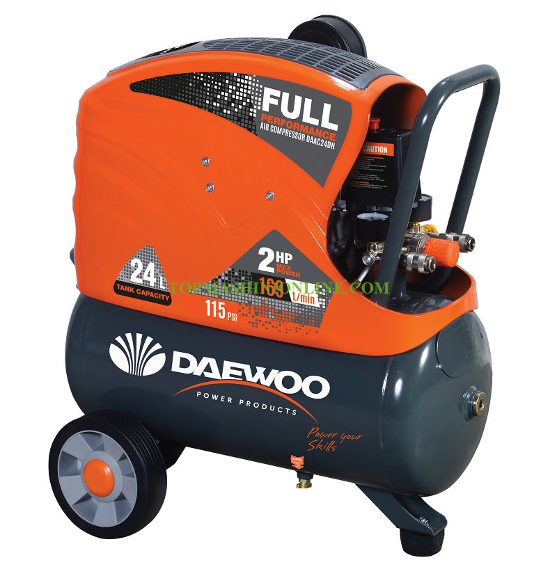 Бутален компресор директно куплиране Daewoo DAAC24DN 1.5 KW, 8 bar, 24 л, 169 л/мин image
