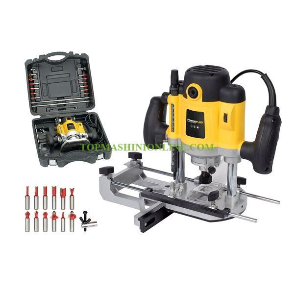 Електрическа оберфреза Power Plus POWX093 1300 W, Ø 8-12 мм, 6000-26000 мин-¹ в куфар с комплект фрезери image