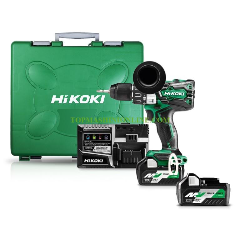 Двускоростен акумулаторен винтоверт HiKOKI DS18DBL2-WPZ с 2 батерии 18 V, 5 Ah, зарядно устройство и куфар image