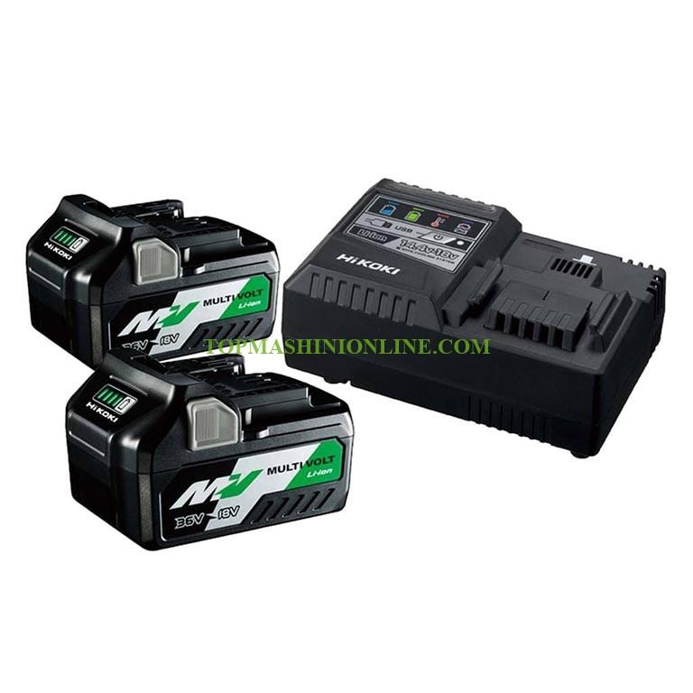 Комплект 2 броя литиево йонни батерии и зарядно устройство HiKoki-Hitachi UC18YSL3-WFZ 36/18 V, 4 Ah и 8 Ah image