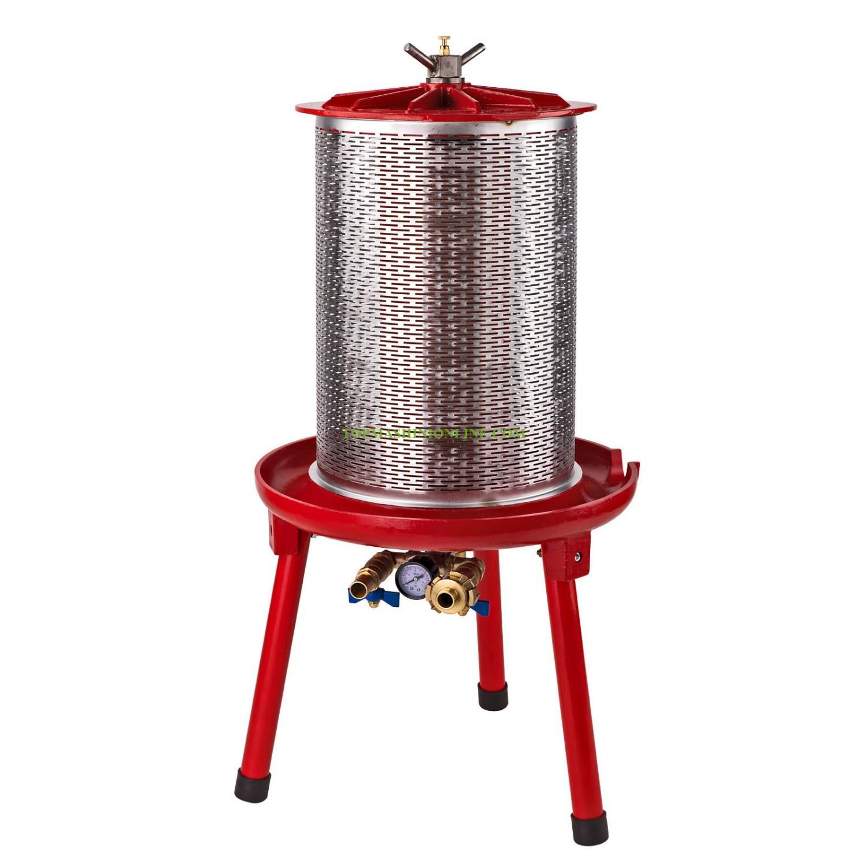 Хидравлична преса за грозде 20 литра от неръждаема стомана с манометър Dema 29970 image